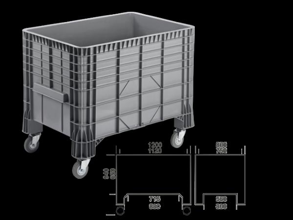 PE-Großbehälter mit Fahrrollen 550