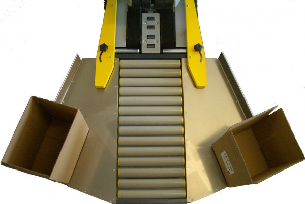 Einlaufrollenbahn mit Kartonhalteschwert F 3