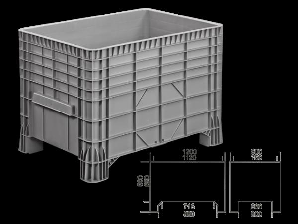 PE-Großbehälter ohne Fahrrollen 550